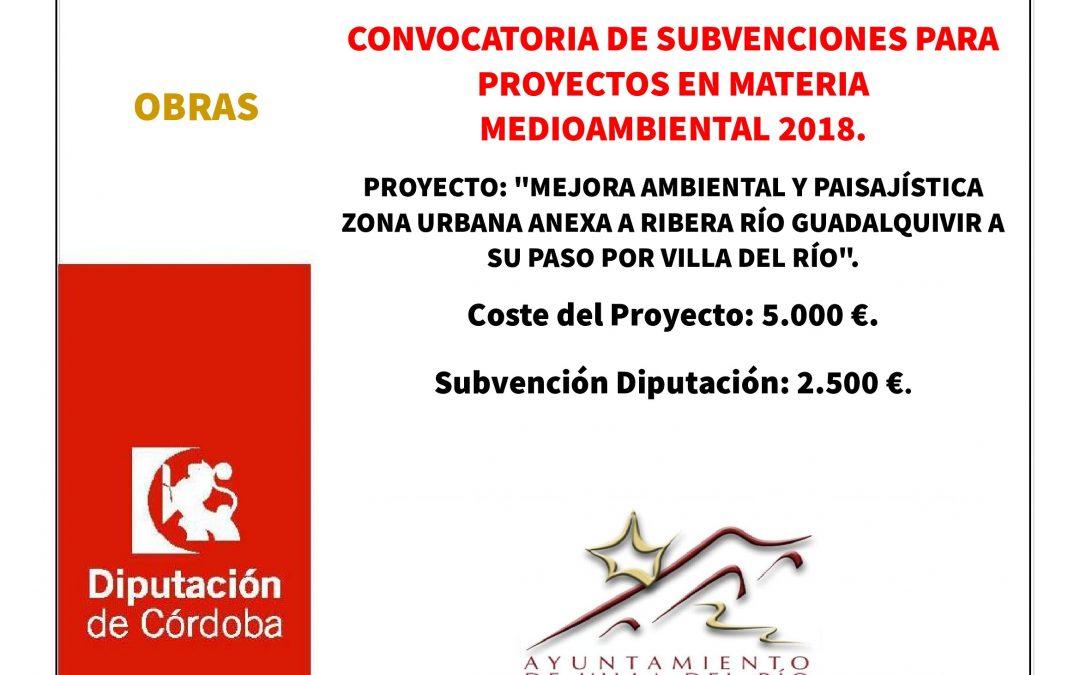 Convocatoria de subvenciones para proyectos en materia medioambiental. 1