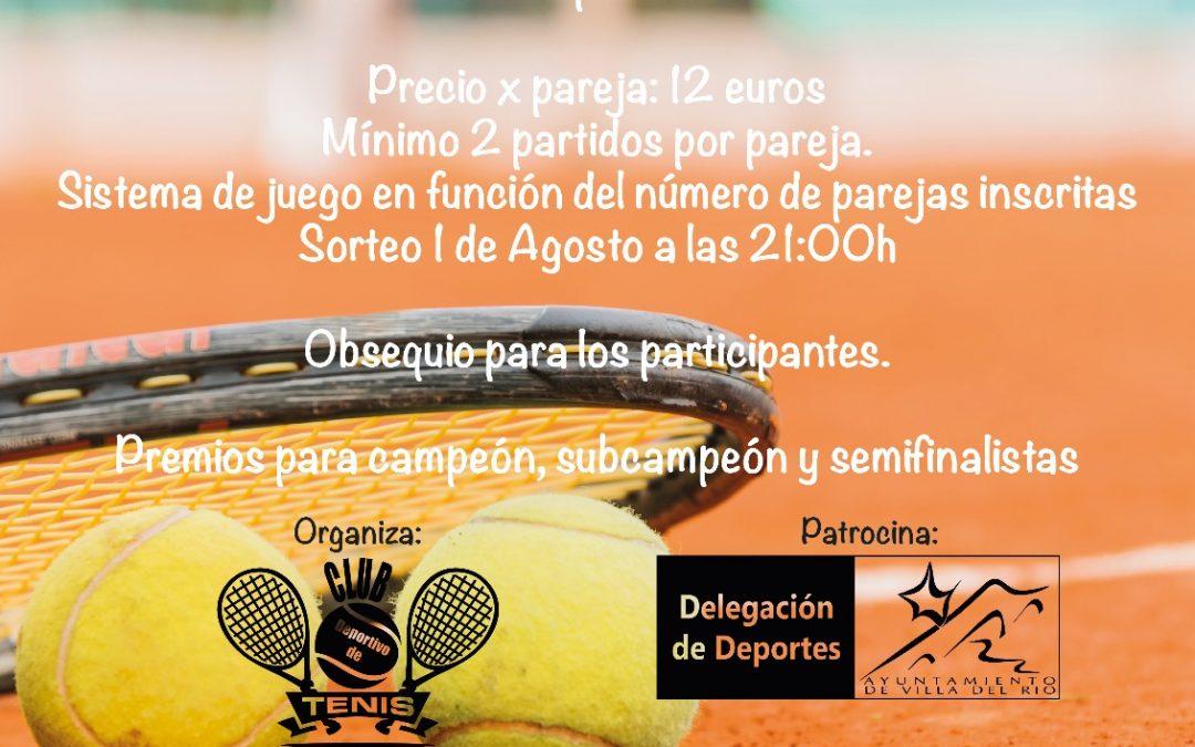 I Torneo de Tenis Abierto de Dobles de Villa del Río