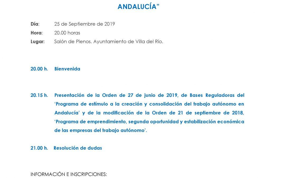 Jornada Informativa «Nuevos Incentivos a Personas Autónomas en Andalucía»