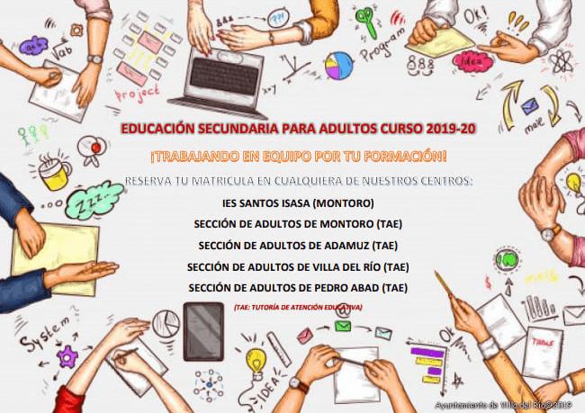 Matriculación Escuela de Adultos 2019