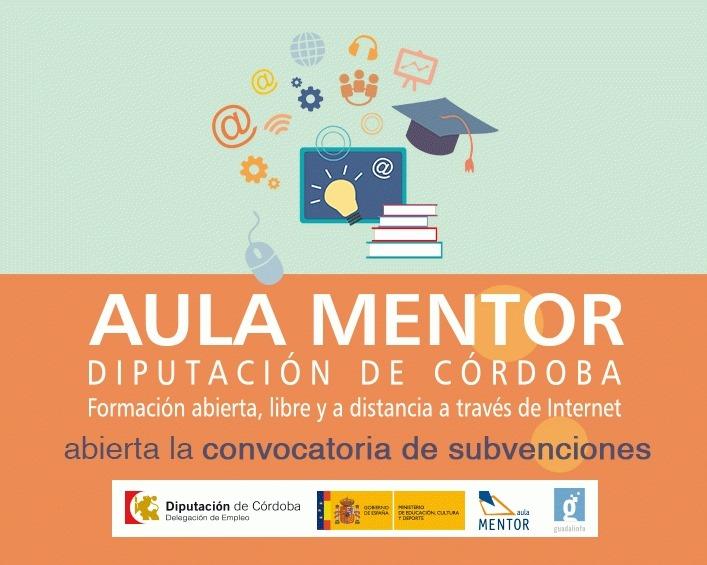 Convocatoria de ayudas para los costes de matrícula de los cursos 'Aula Mentor' 1