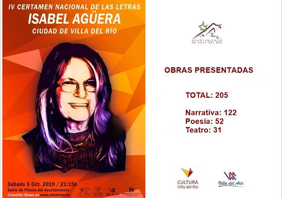 IV Certamen Nacional de las Letras 'Isabel Agüera' Ciudad de Villa del Río 1