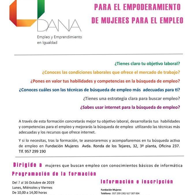 Programa de formación para el empoderamiento de mujeres para el empleo 1