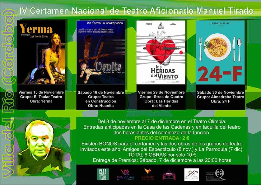 IV Certamen Nacional de Teatro Aficionado 'Manuel Tirado'  Ciudad de Villa del Río 1