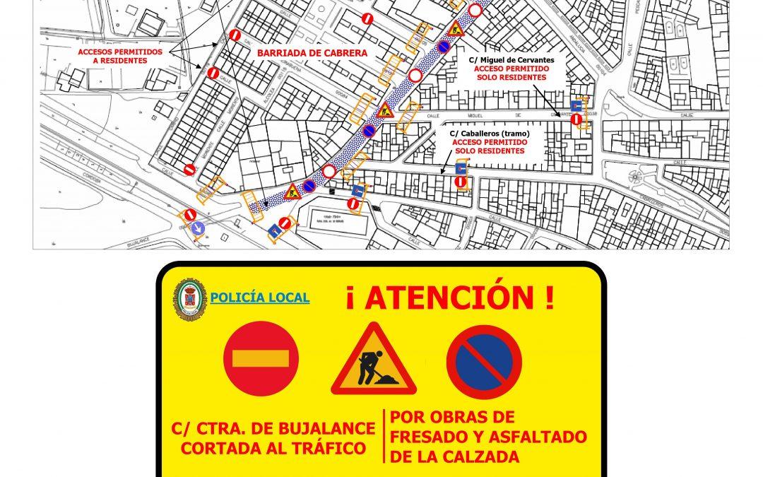 ¡Atención! Obras de mejora en la calle Carretera Bujalance 1