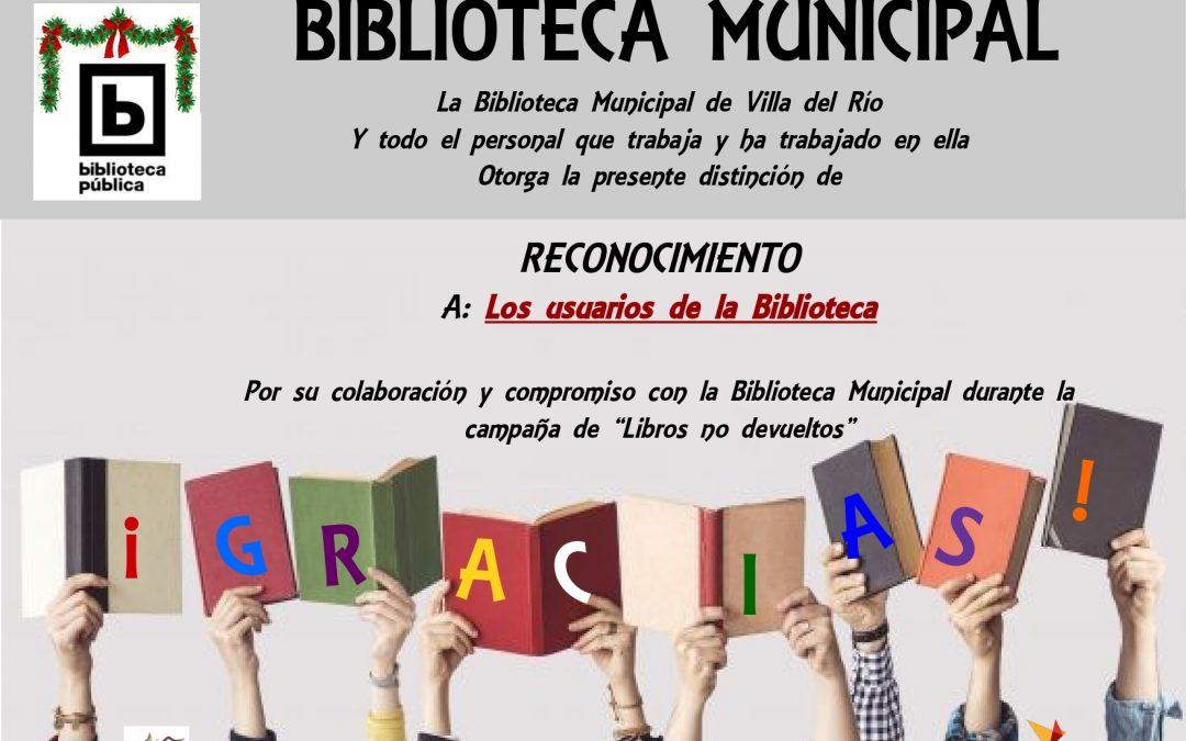 Finaliza la campaña 'Libros No Devueltos' 1