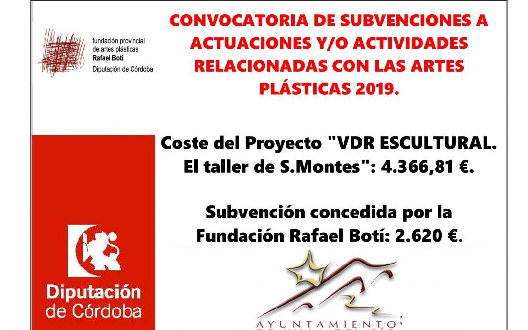 CONVOCATORIA DE SUBVENCIONES A ACTUACIONES Y/O ACTIVIDADES RELACIONADAS CON LAS ARTES PLÁSTICAS 2019. 1
