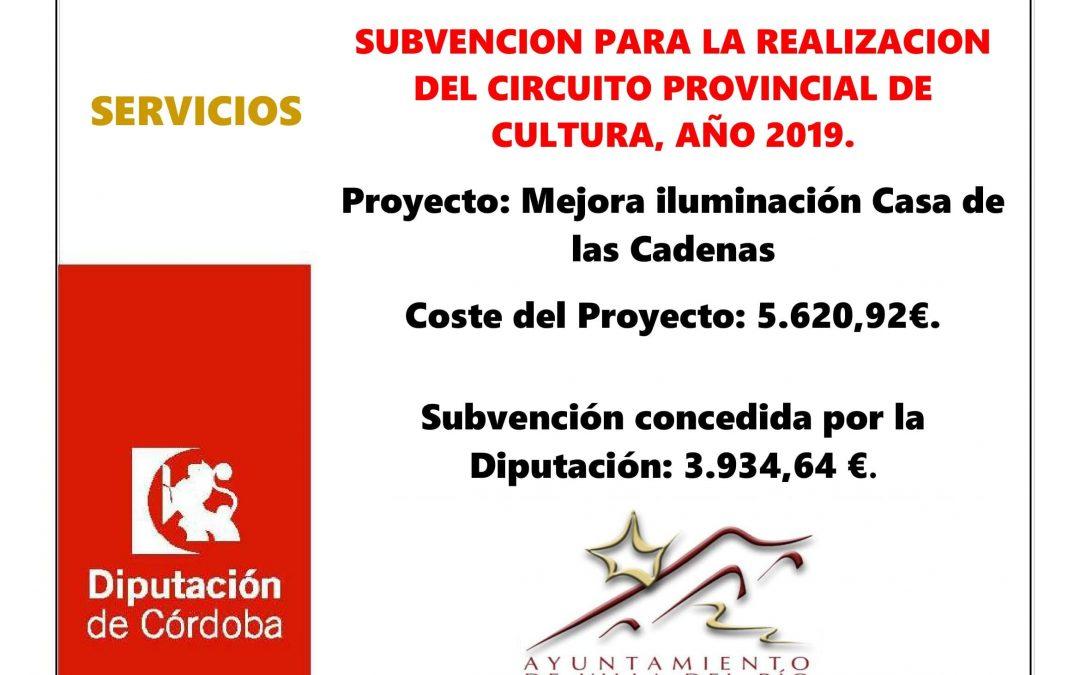 SUBVENCION PARA LA REALIZACION DEL CIRCUITO PROVINCIAL DE CULTURA, AÑO 2019. 1