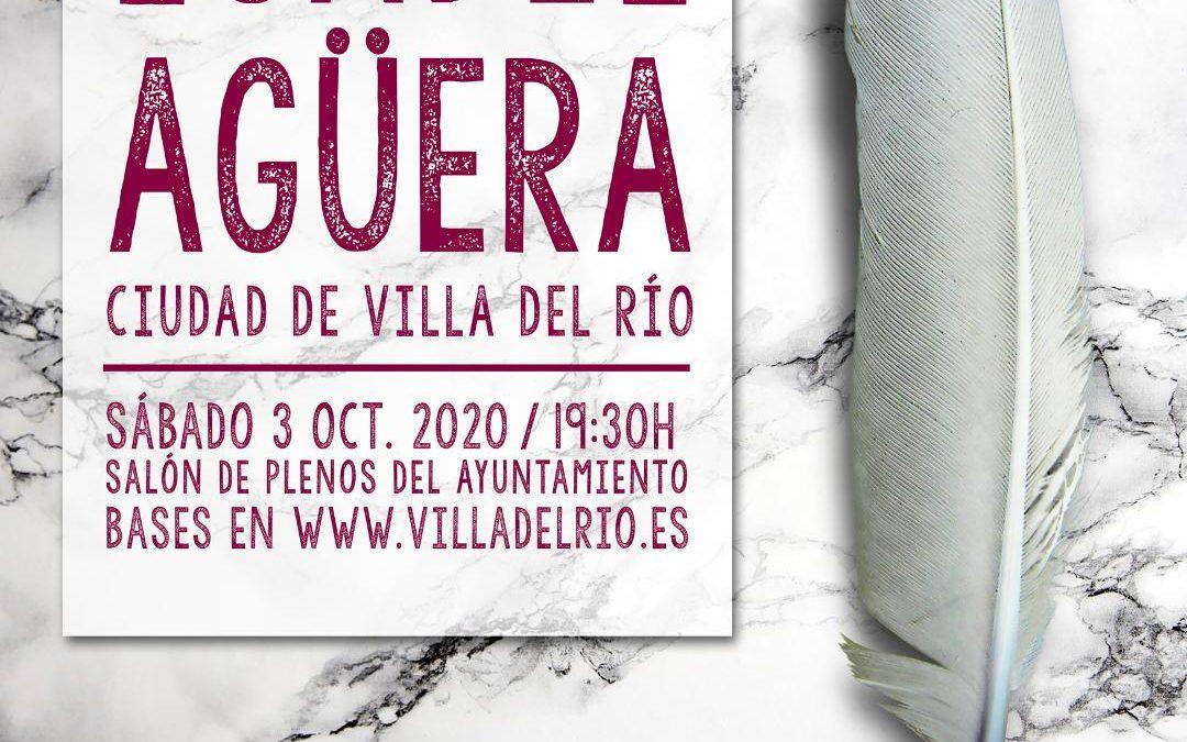 Convocado el V Certamen Nacional de las Letras 'Isabel Agüera Ciudad de Villa del Río' 1