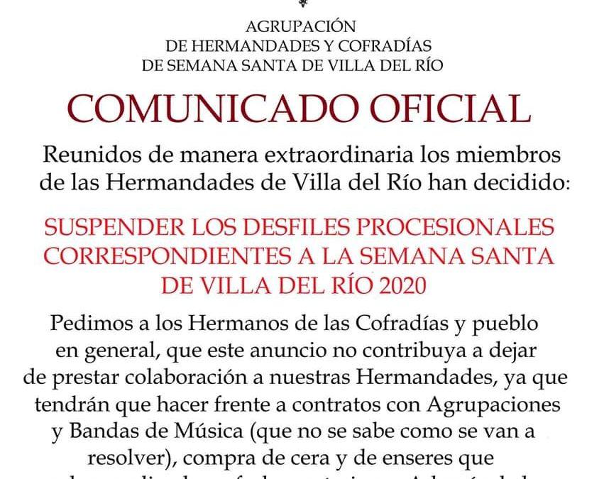 La Semana Santa de Villa del Río queda suspendida 1