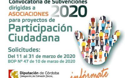 Convocatoria de subvenciones a Asociaciones