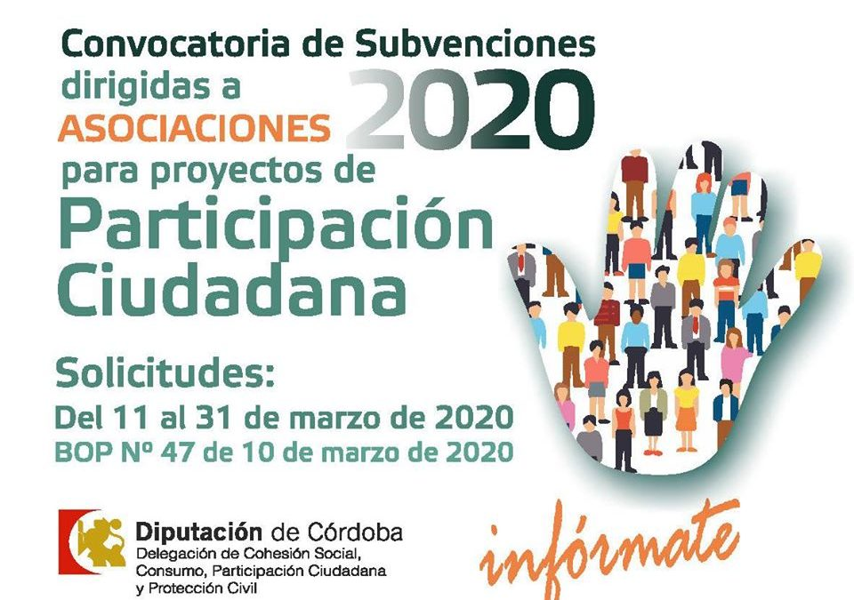Convocatoria de subvenciones a Asociaciones 1