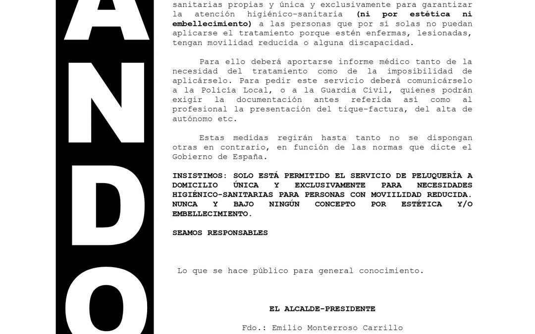 Bando. Coronavirus   Información 1