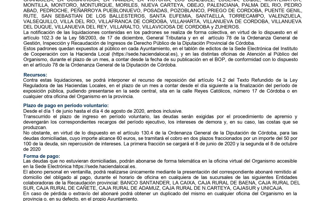 Anunció. Coronavirus | Medidas Diputación de Córdoba. 1