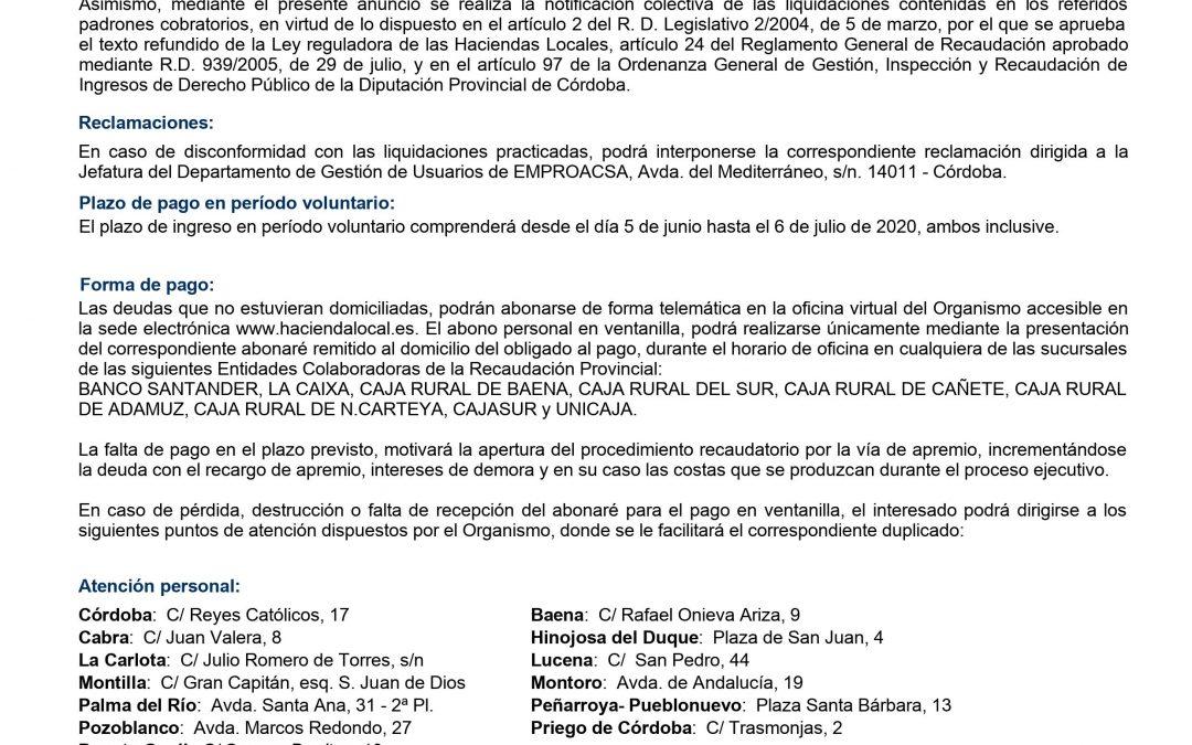 Anuncio. Coronavirus | Medidas Diputación de Córdoba 1