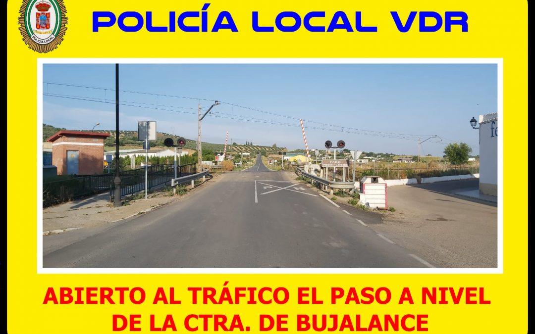 Abierto al tráfico el paso a nivel de la carretera de Bujalance 1