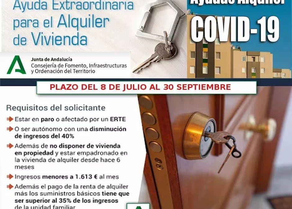 Concesión de ayudas extraordinarias y urgentes para el alquiler de vivienda para combatir el impacto económico del COVID-19 1
