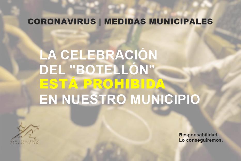 La celebración del botellón está prohibida en nuestro municipio  1