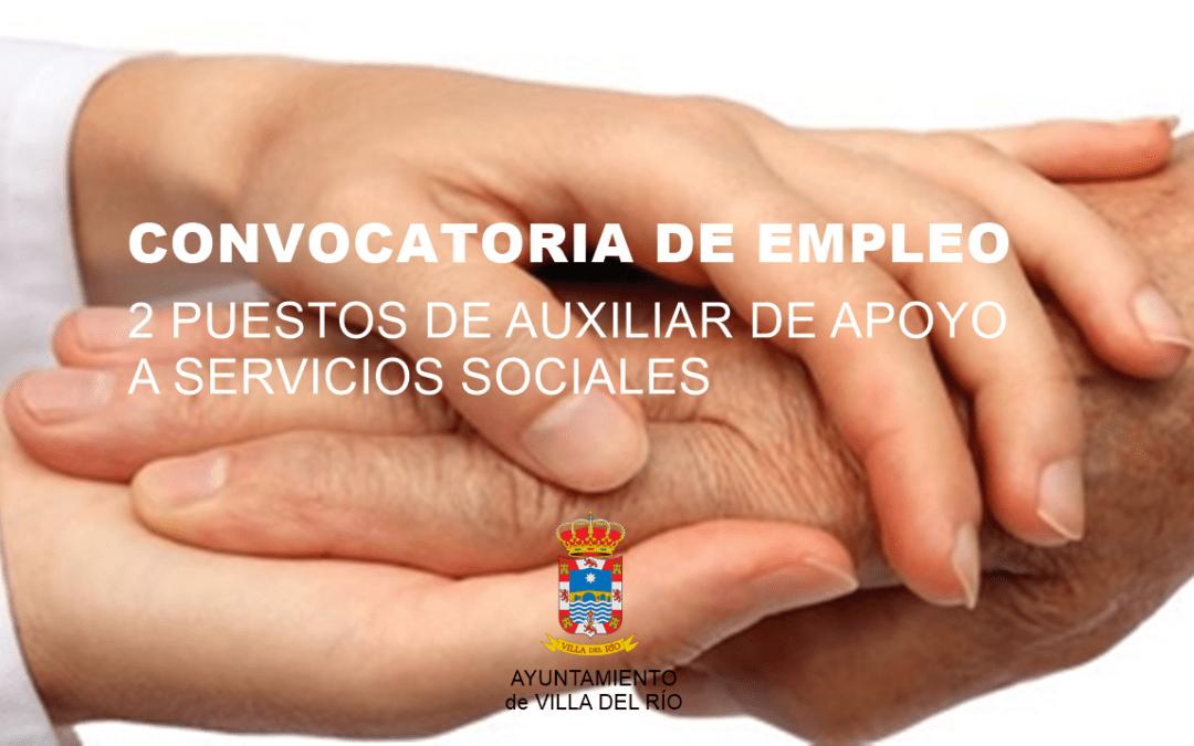 Empleo | 2 puestos de auxiliar de apoyo a servicios sociales 1