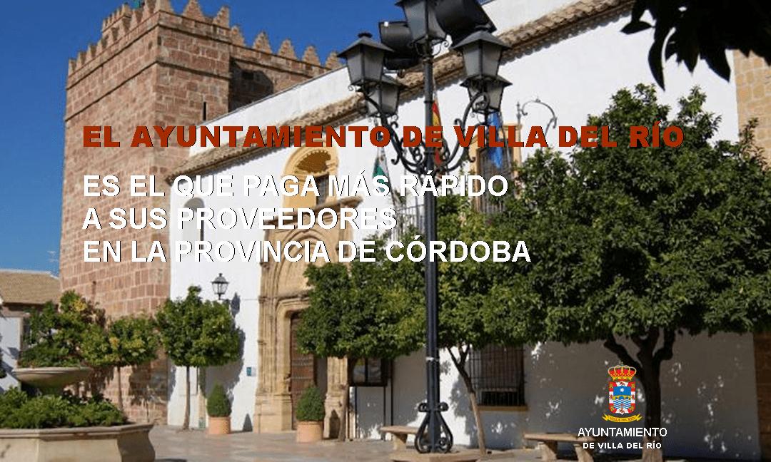 El Ayuntamiento de Villa del Río es el que paga más rápido a sus proveedores en la provincia de Córdoba 1