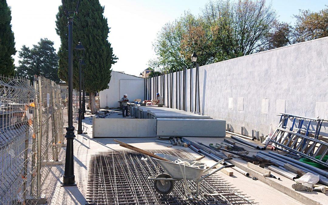 Comienzan las obras de construcción de 104 nichos en el cementerio municipal  1