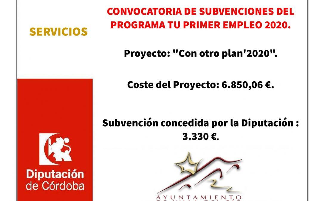 CONVOCATORIA DE SUBVENCIONES DEL PROGRAMA TU PRIMER EMPLEO 2020. 1