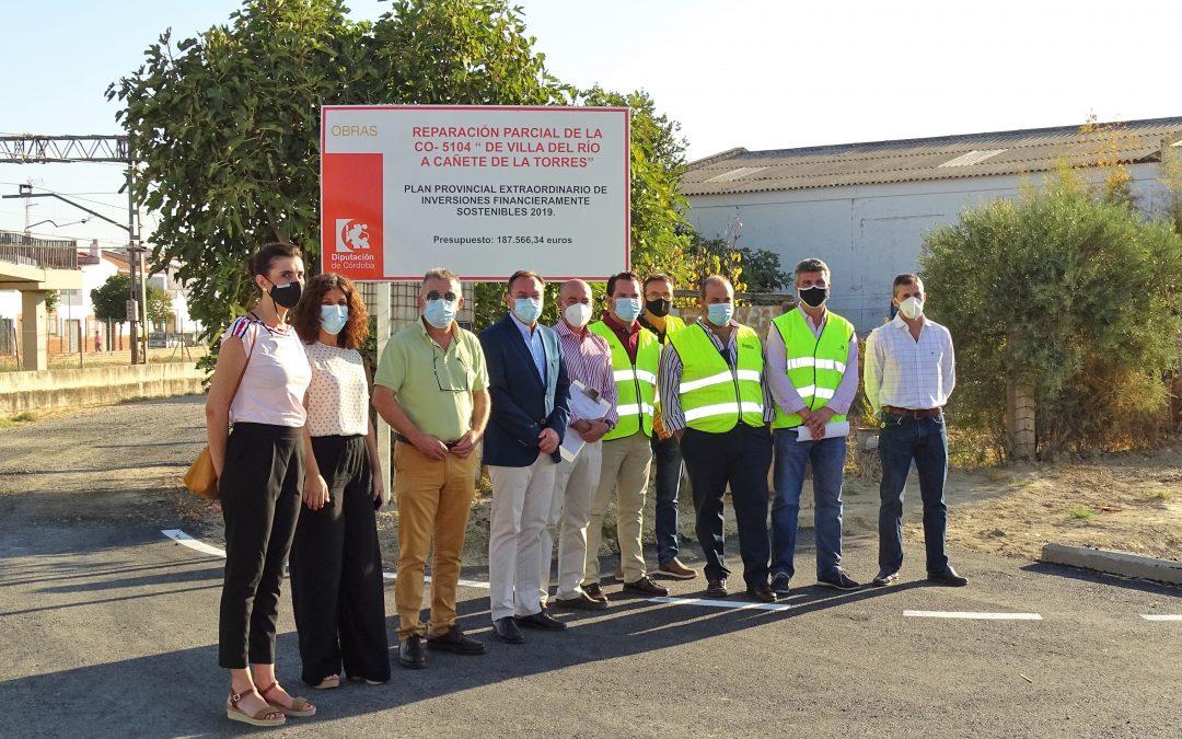 Recepción de las obras de mejora de la carretera Villa del Río a Cañete de las Torres 1