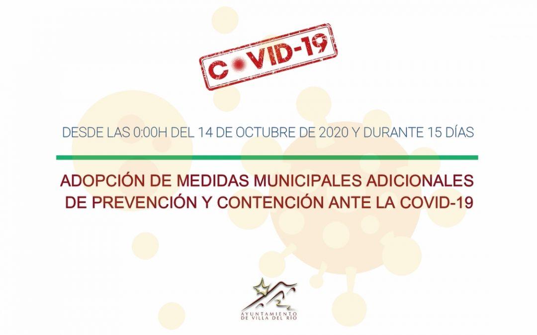 Adopción de medidas municipales adicionales de prevención y contención ante la Covid-19  1