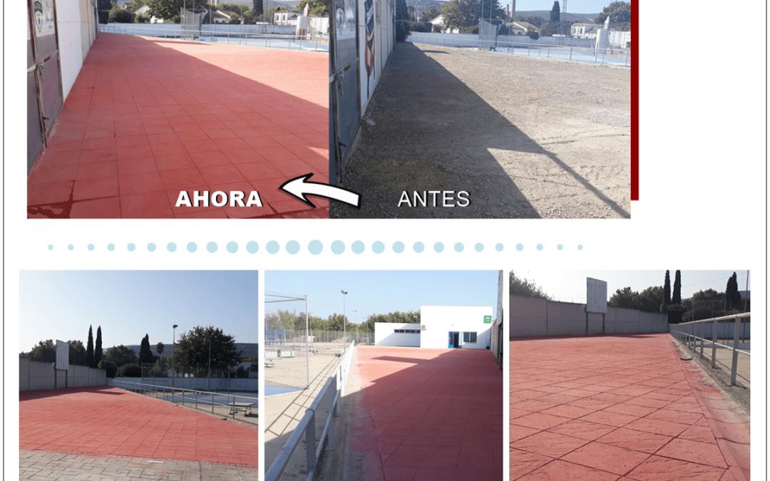 Finalizan las obras de mejora de pavimentación de los espacios abiertos en el Estadio de Fútbol Municipal  1