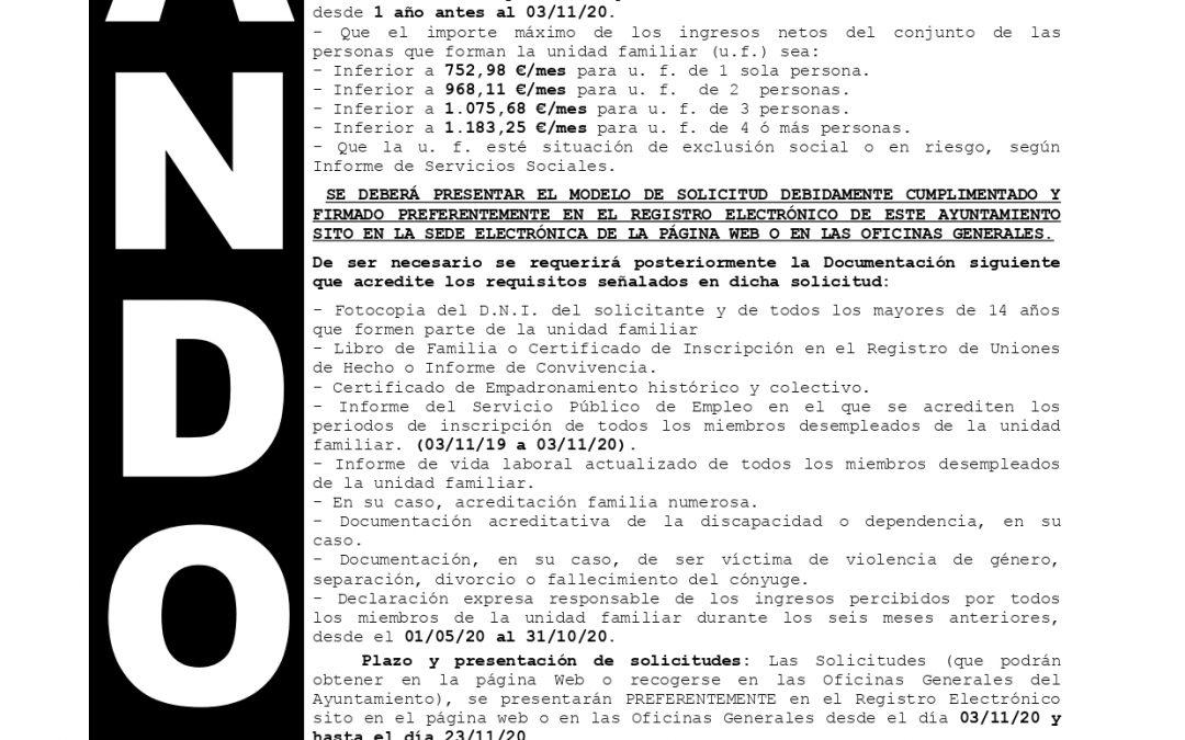 Bando | Plan de Inclusión Social Municipal 2021 1