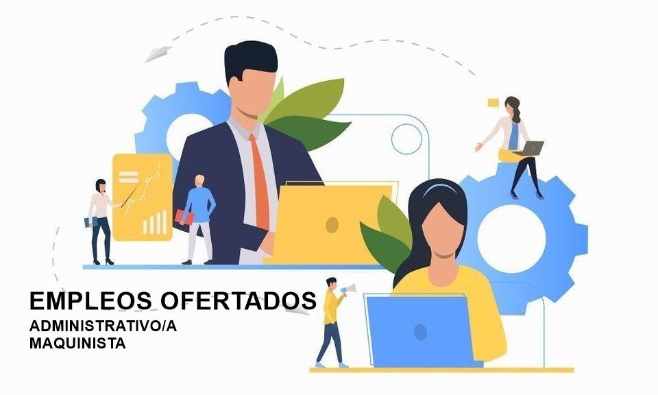 Empleo   Anuncio convocatoria bolsa de empleo para los puestos de administración y puesto de maquinista 1