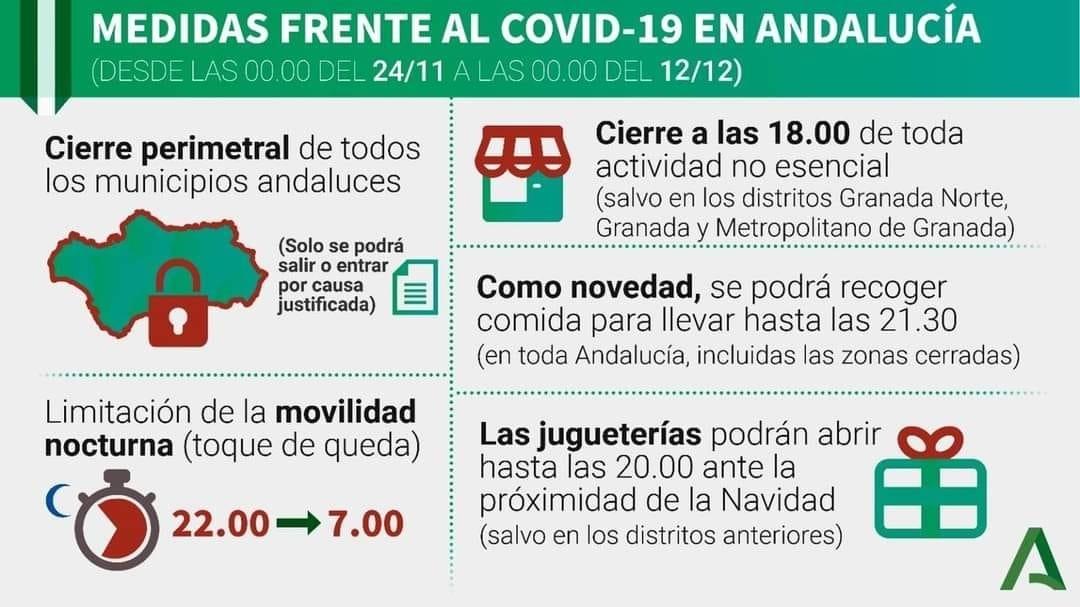 Junta de Andalucía | Prorroga de medidas frente al Covid-19 1