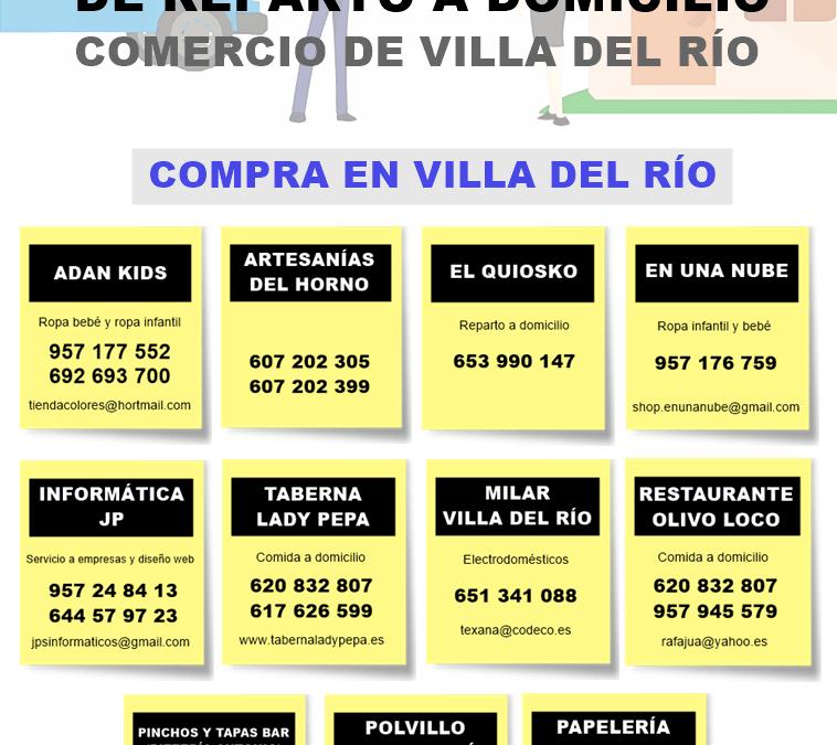 Servicio de reparto a domicilio del comercio de Villa del Río 1