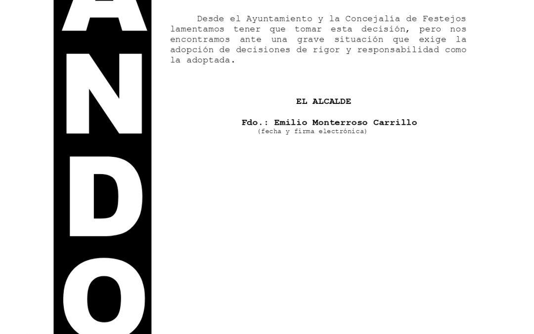 Bando | La Candelaria no podrá celebrarse este año debido a la situación de gravedad provocada por la pandemia Covid-19 1