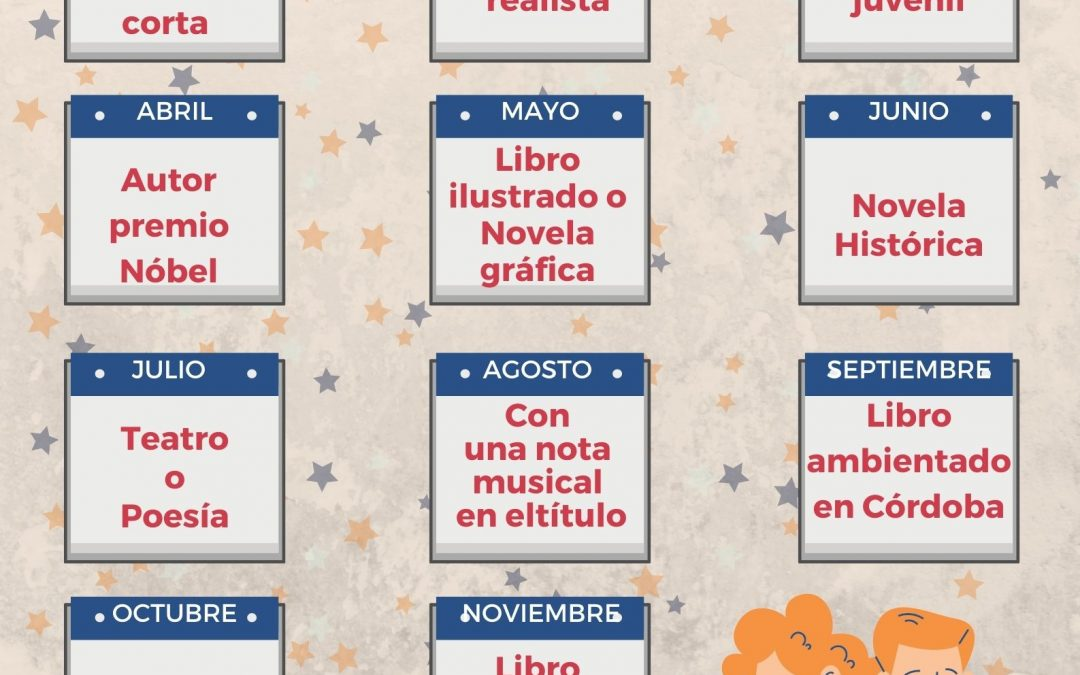 Reto de lectura 'Un libro al mes' de la  Biblioteca Municipal 2021 1