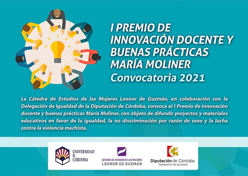 Premio de innovación docente y buenas prácticas María Moliner 1