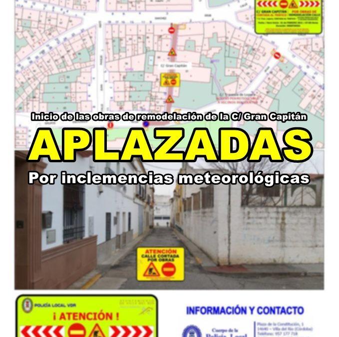 Aplazado el inicio de las obras de remodelación de la calle Gran Capitán por inclemencias meteorológicas 1