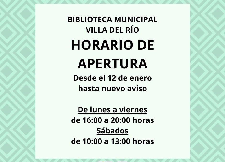 Horario Biblioteca Municipal 1