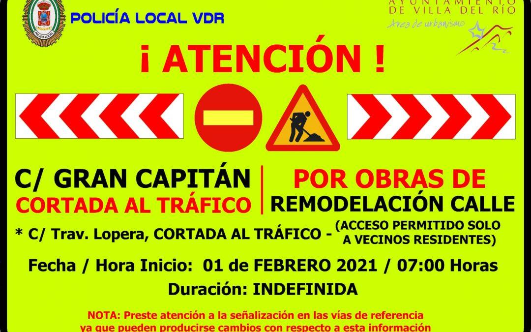 El Ayuntamiento de Villa del Río ejecutará las obras de remodelación de la calle Gran Capitán 1