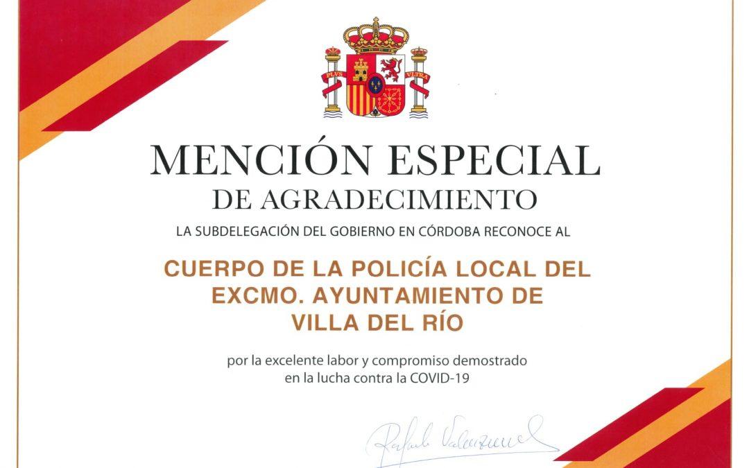 El Gobierno de España reconoce a Policía Local y Protección Civil de Villa del Río por su compromiso frente a la Covid-19 1