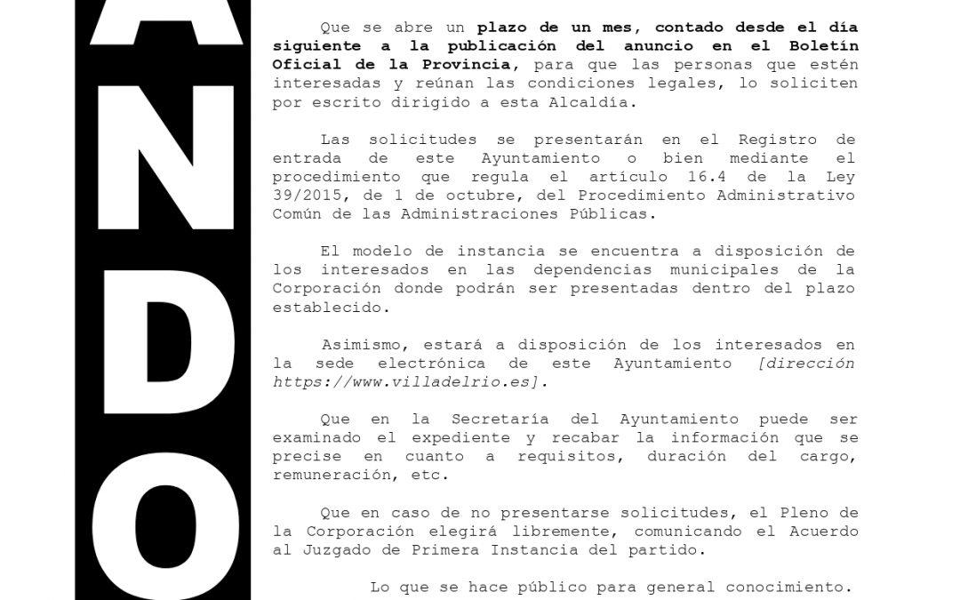Bando   Elección de Juez de Paz y sustituto 1