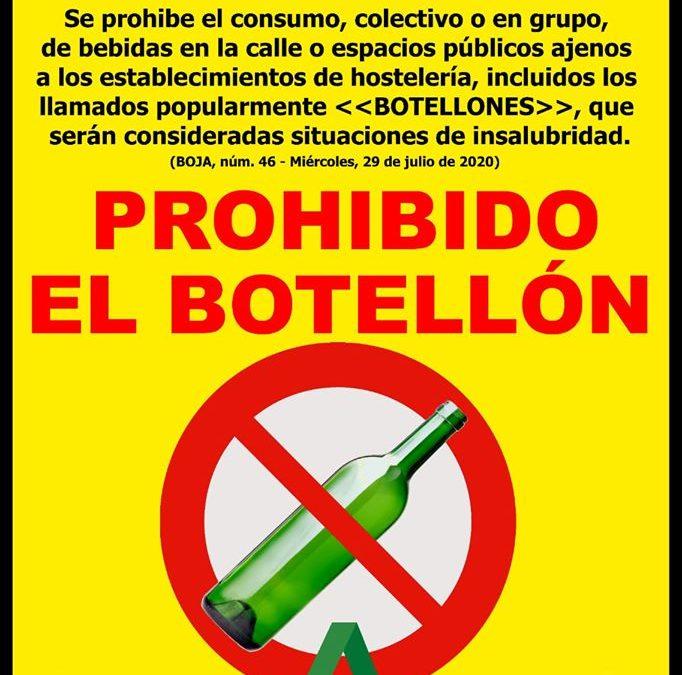 La celebración del 'botellón' está prohibida en nuestro municipio  1