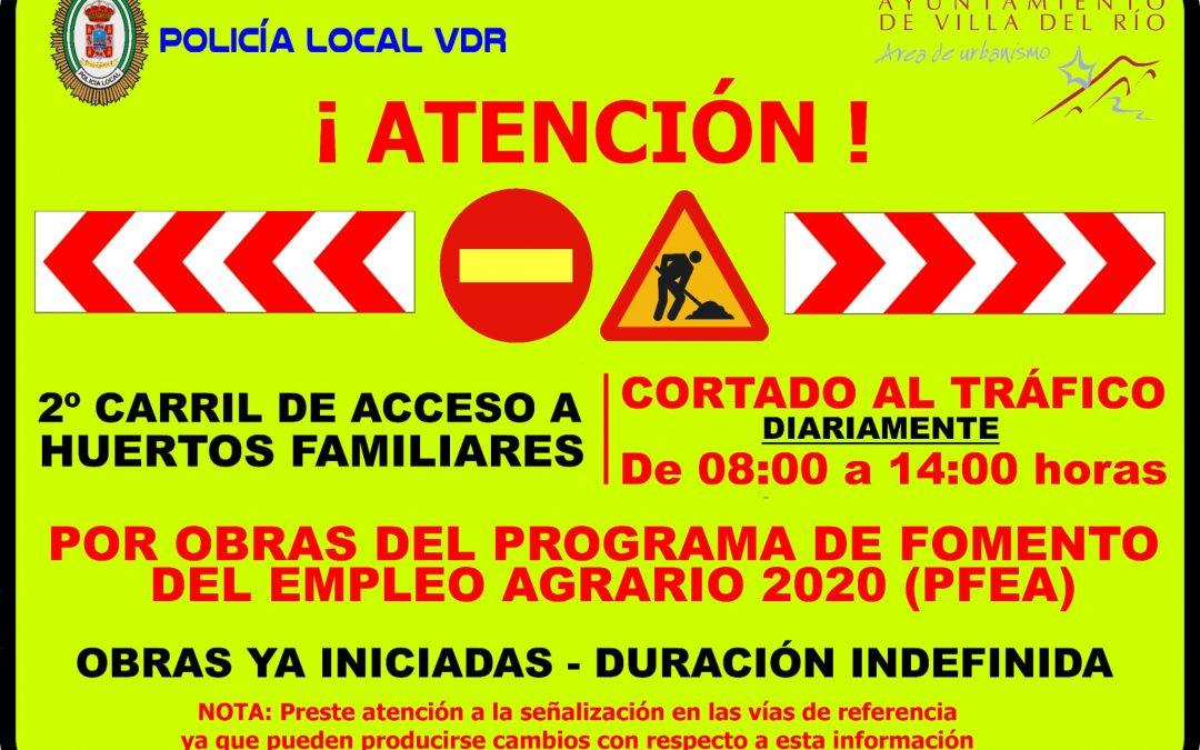 El Ayuntamiento de Villa del Río ejecuta obras de mejora de caminos, red de abastecimiento de agua y alumbrado en los huertos familiares  1