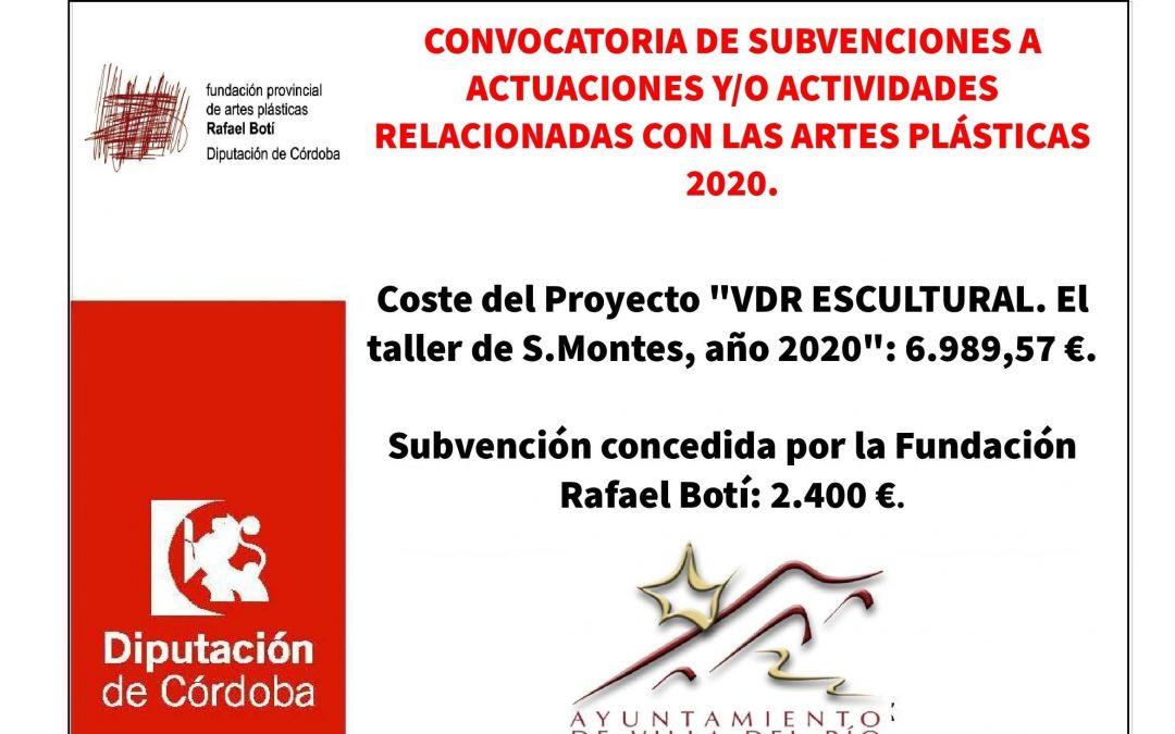 Convocatoria de subvenciones a actuaciones y/o actividades relacionadas con las artes plásticas 2020 1