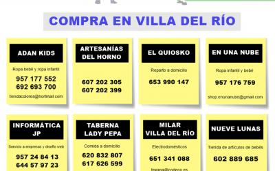 Servicio de reparto a domicilio del comercio de Villa del Río