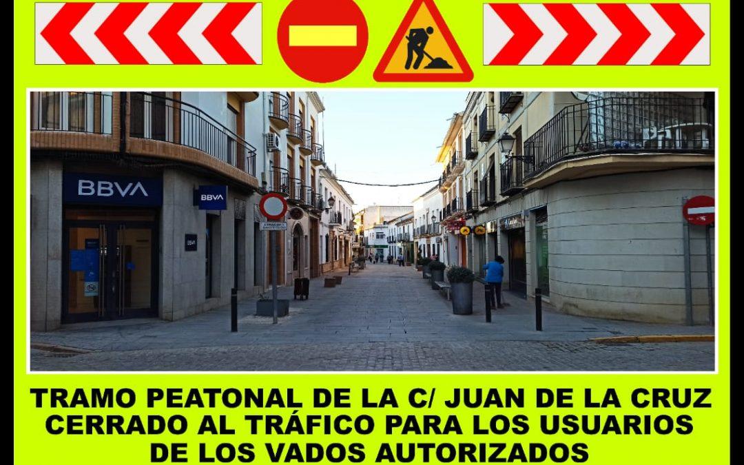 El Ayuntamiento de Villa del Río ejecutará obras de reparación de la calzada en el tramo peatonal de la calle Juan de la Cruz 1