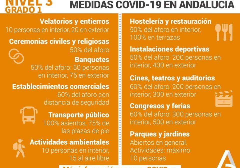 Villa del Río Junta de Andalucía | Medidas preventivas Covid-19 1