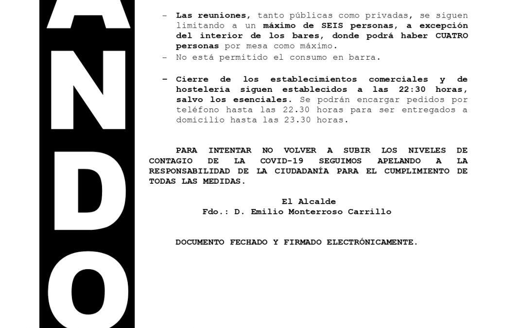 Bando | Medidas de contención de la pandemia nivel de alerta 3 (grado 1) con cierre perimetral 1