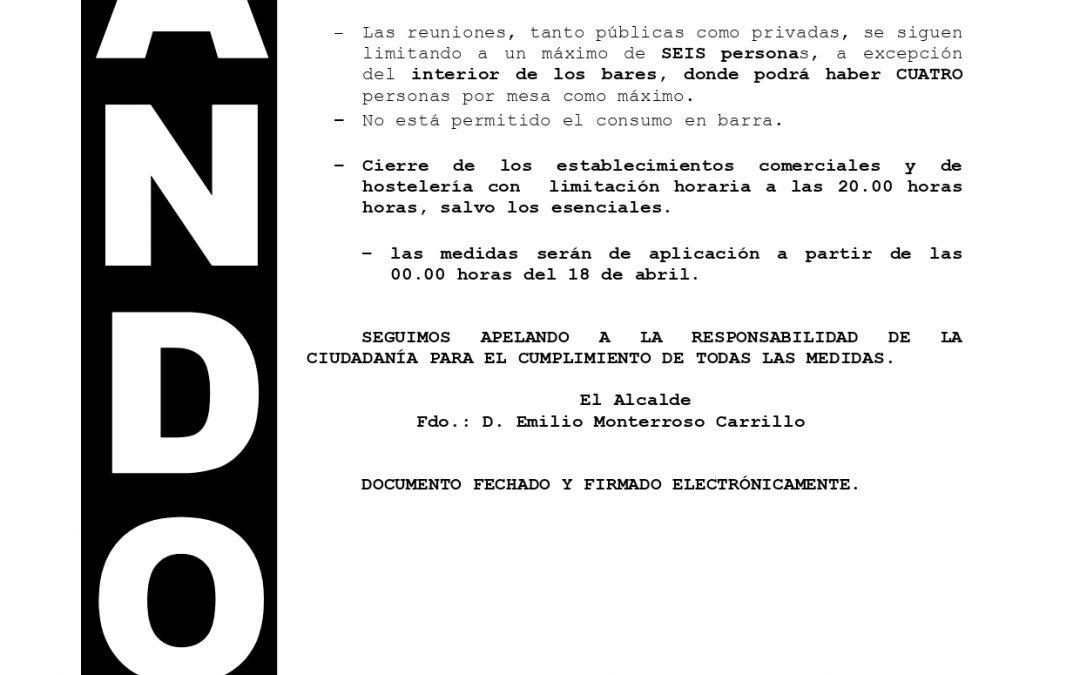 Bando | Medidas de contención de la pandemia nivel de alerta 3 (grado 1) en Villa del Río 1