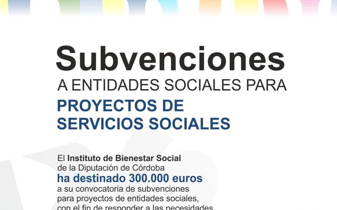Convocatoria de subvenciones dirigida a entidades sociales para financiar proyectos de servicios sociales 1